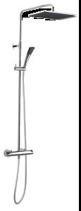 Slate 3 Thermostat Duschsystem (Chrom/Schwarz)