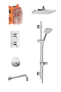 Pine SR 1 - Complete concealed shower system (Chrome/Silverhose)