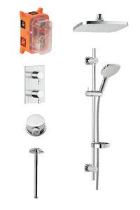 Pine SR 2 - Complete concealed shower system (Chrome/Silverhose)