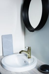 Tradition Basin Mixer with pop up waste (Polished Brass PVD)