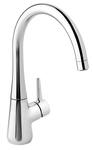 Bell kitchen mixer in chrome.