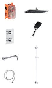 Slate SR1 - Complete concealed shower system (Chrome/Black)