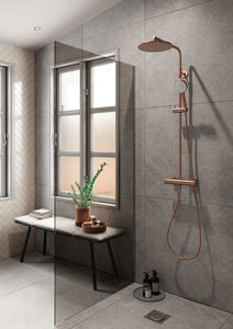 Silhouet Shower System (Brushed Copper PVD)