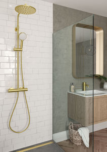 Silhouet Shower System (Brushed Brass PVD)