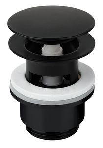 Badezimmer Zubehör Ablaufgarnitur mit Klick-Funktion (Mattschwarz)