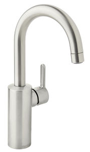 Silhouet Basin mixer with high spout (Steel PVD)