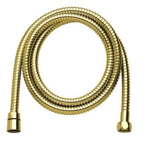 Akcesoria prysznicowe Wąż prysznicowy metalowy 1500 mm (Polerowany mosiądz PVD)