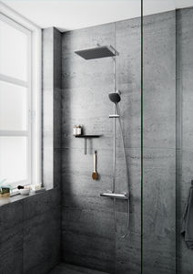 Slate 4 shower system (Chrome/Black)