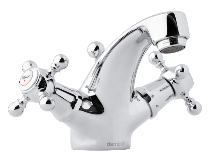 2-handle Tradition basin mixer with a pop up waste