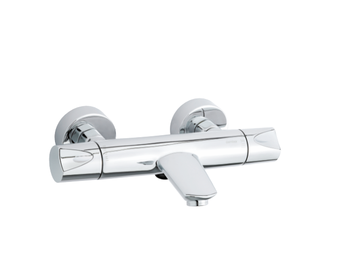 two-grip thermostatic bath and shower mixer