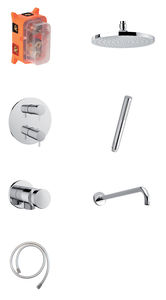 Hilina HS 1 - Complete concealed shower system (Chrome/Silverhose)