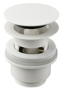 Badezimmer Zubehör Ablaufgarnitur mit Klick-Funktion (Matte weiß)