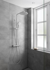 Silhouet Thermostat Duschsystem (Stahl PVD)