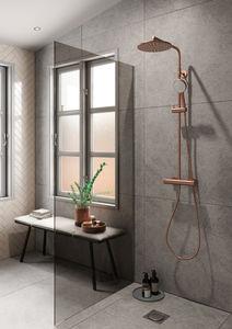 Silhouet Thermostat Duschsystem (Kupfer gebürstet PVD)