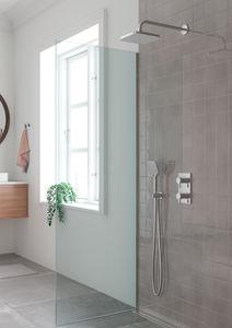 Pine HS1 podtynkowy zestaw prysznicowy termostatyczny (Chrom/srebrny wąż)